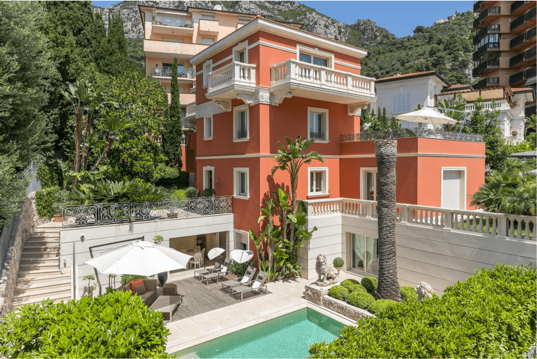 Monaco Properties - Close to Monaco - Mansion at the gates of the Principality