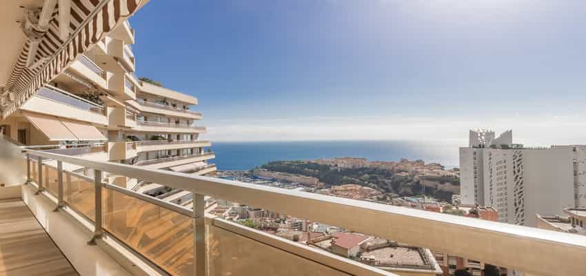 Monaco Properties - 3 roomed apartment with seaview in Jardin Exotique